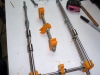 Y-Axis - threaded and linear rods with bearings half done