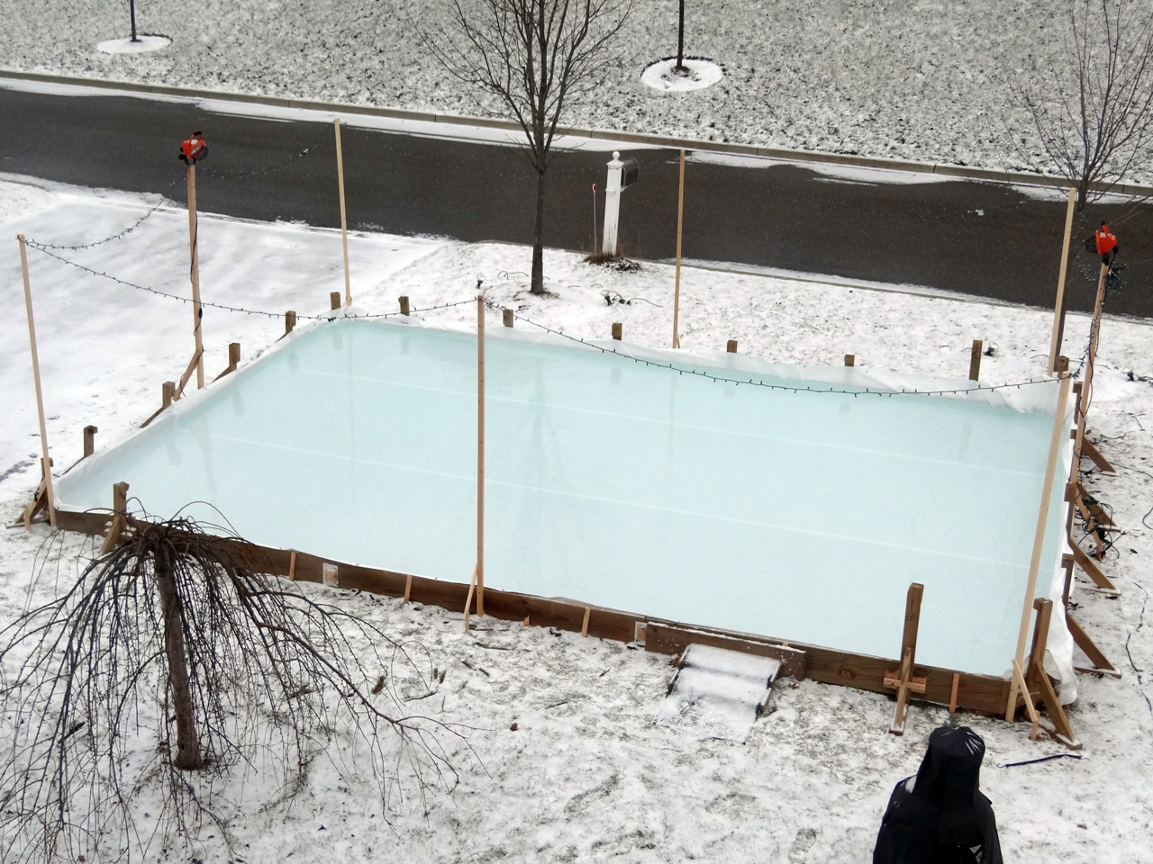 Backyard Rink Goes Up   2012 2013
