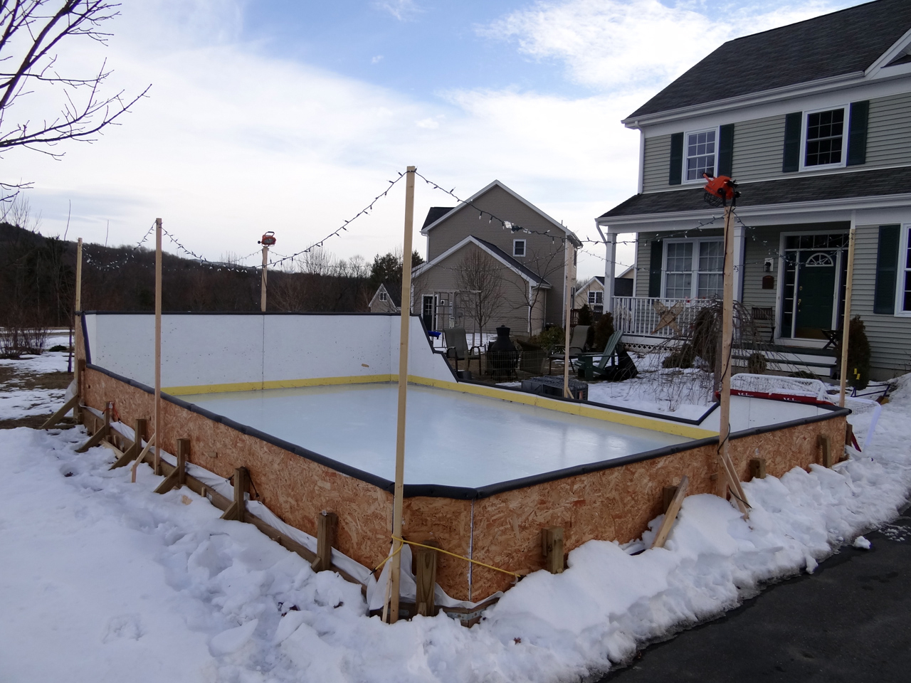 Backyard Rink Boards : Backyard Rink  20122013