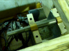 Spindle with Flats installed in Lathe