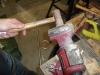 Bend Burner Tube Support to 90 deg in Vise