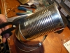 Cut the Tin Can lengthwise