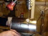 Drill Burner Tube Support Mounting Holes in Furnace Body