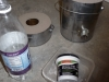 Parts to line the furnace with furnace cement