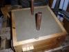 use copper pipe to cut sprue and riser